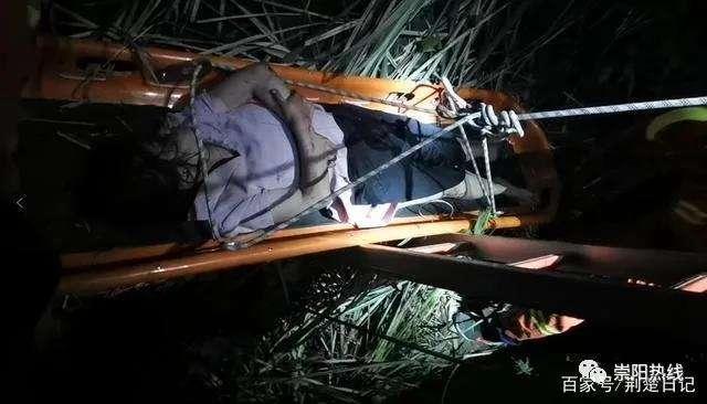夫妻在杭瑞高速吵架一个坠桥一个被困,崇阳消防紧急救援