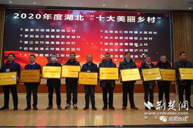 """崇阳畈上村入选2020年度湖北省""""十大美丽乡村"""""""
